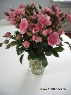 blomster glass bordpynt