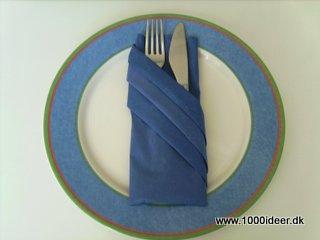 foldning af servietter