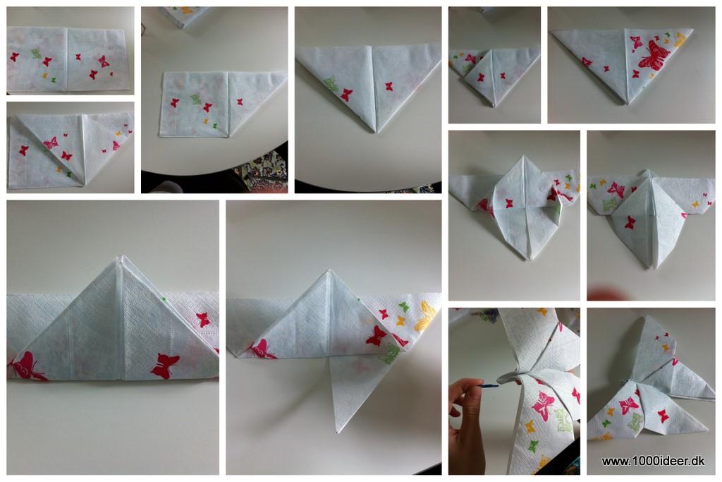 folde servietter jul