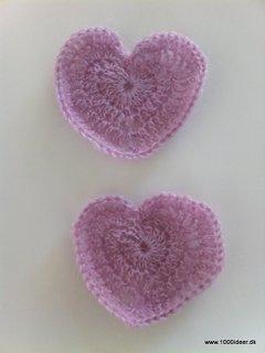 hæklet hjerte serviet