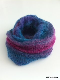 strik tube halstørklæde