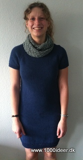 Strikket kjole/lang sweater – top-down model