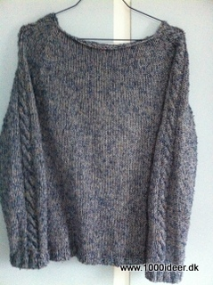 Strikket top-down sweater med snoninger