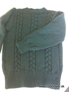 Strikket herresweater i XL