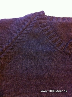 Herre sweater med V-hals str. XL