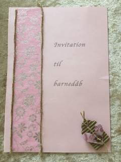 Invitation til barnedåb