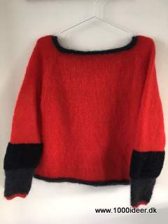 Top-down sweater str. M - brug evt. garnrester
