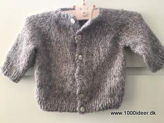 Top-down babycardigan ca. 4-6 mdr.
